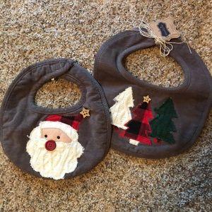 Mudpie Christmas bib set